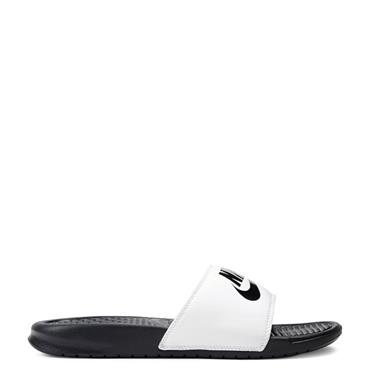 Nike Mens Benassi JDI Sliders - White/Black
