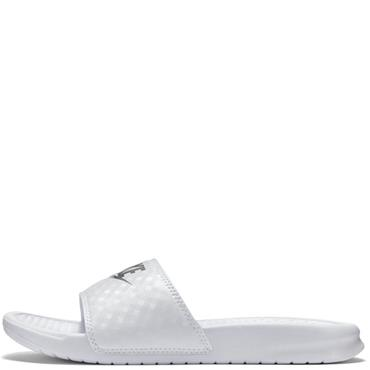 Nike Womens Benassi JDI Sliders - White