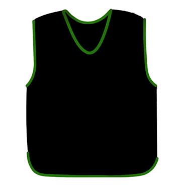 Precision Mesh Training Bib - Black/Green