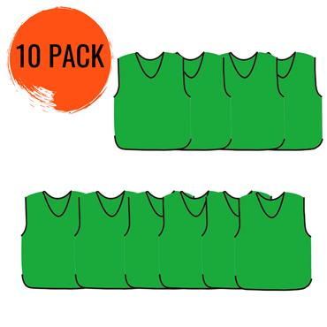 Precision Mesh Traning Bib 10 Pack - Green