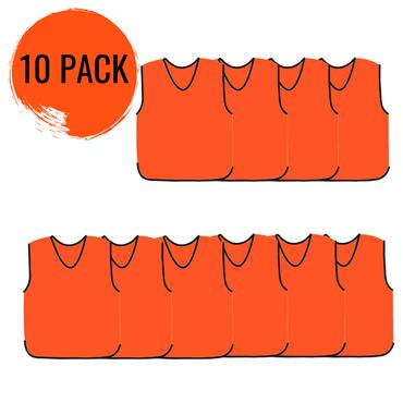 Precision Mesh Training Bib 10 Pack - Orange