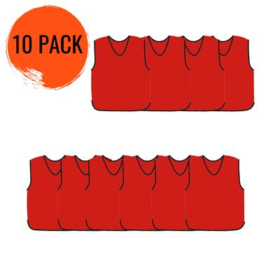 Precision Mesh Training Bib 10 Pack - Red