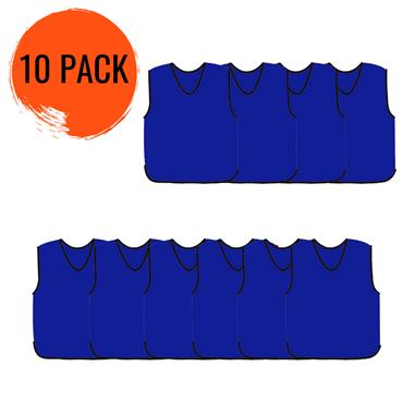 Precision Mesh Training Bib 10 Pack - Royal Blue