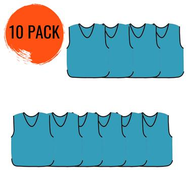 Precision Mesh Training Bib 10 Pack - Sky Blue