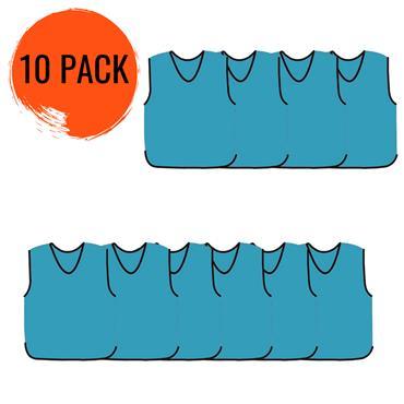 Precision Mesh Training Bib 10 Pack - Sky Blue
