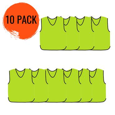 Precision Mesh Training Bib 10 Pack - Yellow