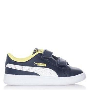 Puma Boys Smash V2 - Navy/Yellow