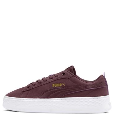 PUMA Womens Smash Platform SD Runners - Burgandy