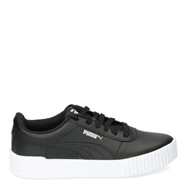 PUMA Womens Carina Leather Runners - Black/White