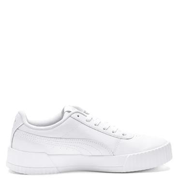 PUMA Womens Carina Leather Trainers - White