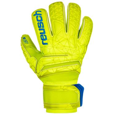 Reusch Adults S1 Roll Finger Gloves - Yellow