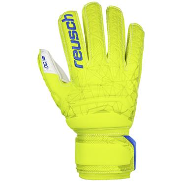 Reusch Junior SG Finger Support Glove - Yellow