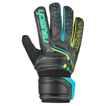 Reusch Attrakt RG Open Cuff JR Gloves - BLACK