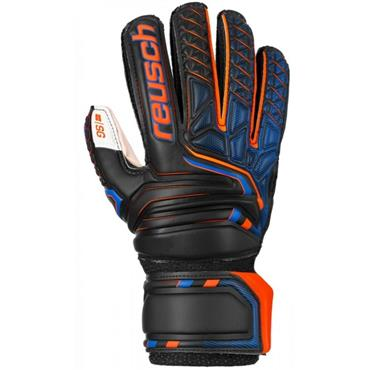 Reusch Attrakt SG Open Cuff Finger Safe - BLACK