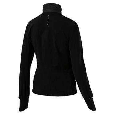PUMA WOMENS WINTER ZIP UP JACKET - BLACK