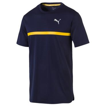 PUMA Mens Run Graphic T-Shirt - Navy