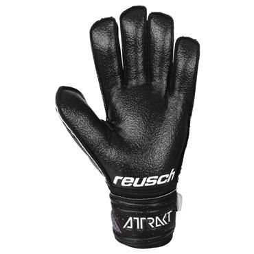 Reusch Senior Attrakt Resist Finger Support Gloves - BLACK