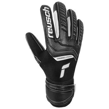 Reusch Attrakt Infinity Finger Support Gloves - BLACK