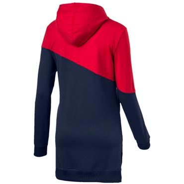 WOMENS A.C.E BLOCKED HOODIE - NAVY/RED
