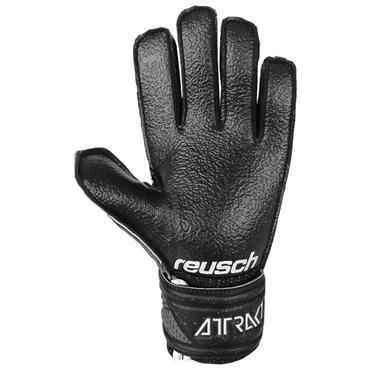 Reusch Junior Attrakt Resist Finger Support Goalkeeper Gloves - BLACK