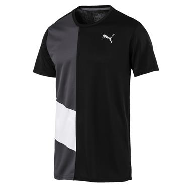 PUMA MENS IGNITE RUNNING TSHIRT - BLACK