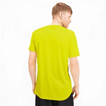 PUMA Mens Running Ignite T-Shirt - Yellow