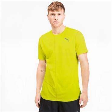 PUMA Mens Running Ignite T-Shirt - Yellow