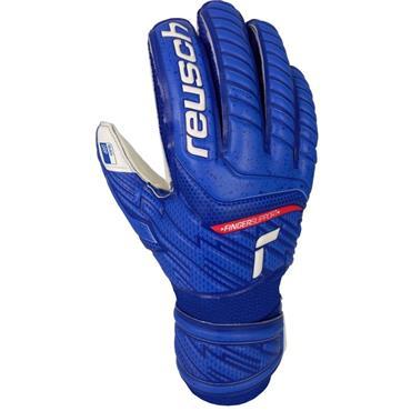 Reusch Junior Attrakt Grip Finger Support Goalkeeper Gloves - BLUE