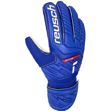 Reusch Junior Attrakt Grip Goalkeeper Gloves - BLUE
