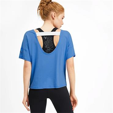 PUMA Womens Hit Feel It T-Shirt - Blue