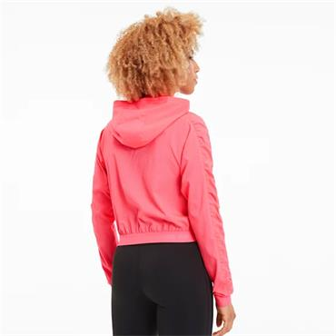 PUMA Womens Be Bold Woven Jacket - Pink