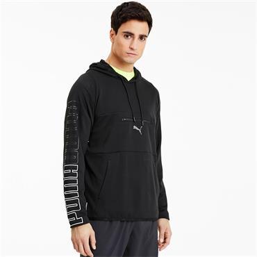 PUMA Mens Power Knit Training Hoodie - BLACK