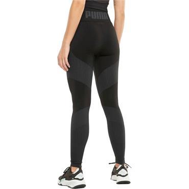 PUMA WOMENS SEAMLESS HIGH WAIST LEGGINGS - BLACK