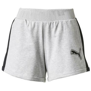 PUMA WOMENS REBEL RELOAD 4 SHORTS - GREY
