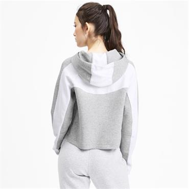 PUMA Womens Evostripe Hoodie - Grey