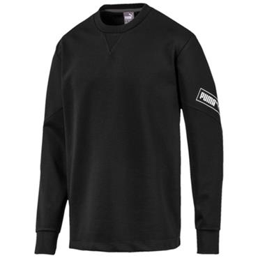 PUMA Mens Nutility Crew Sweatshirt - BLACK