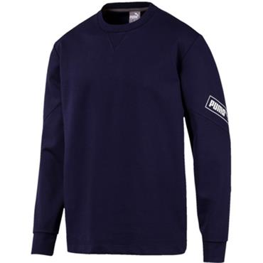 PUMA Mens Nutility Crew Sweatshirt - Navy