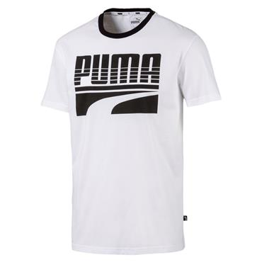 PUMA Mens Rebel Bold T-Shirt - White
