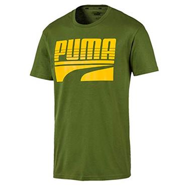 PUMA Mens Rebel Bold T-Shirt - Green