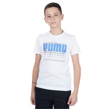 Puma Boys Active Sports Graphic T-Shirt - WHITE