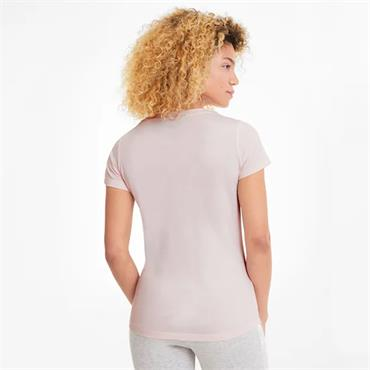 PUMA Womens Amplified Logo T-Shirt - Pink