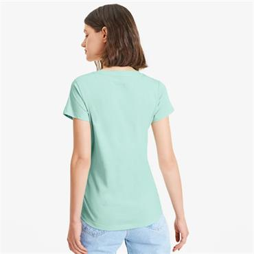 PUMA Womens Amplified Logo T-Shirt - MINT