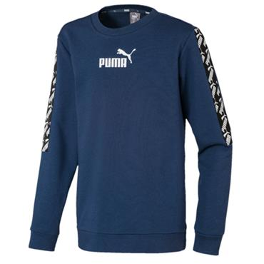 PUMA KIds Amplified Crew Neck Sweater - Navy