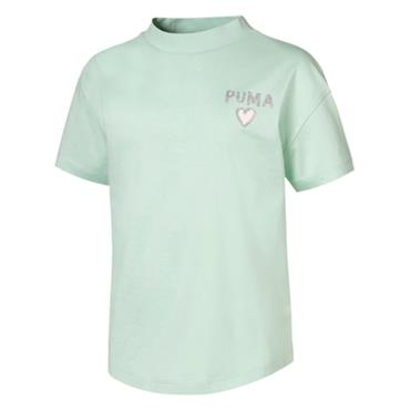 PUMA Girls Alpha Trend T-Shirt - MINT