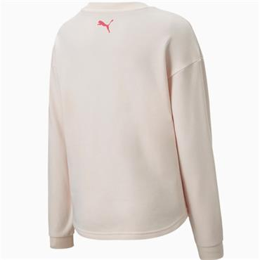 PUMA Girls Alpha Crew Sweatshirt - Pink