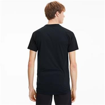 PUMA Mens Evostripe Logo T-Shirt - BLACK
