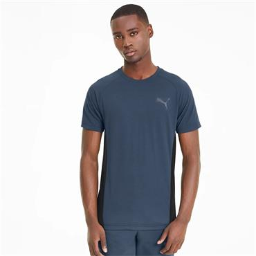 PUMA Mens Evostripe Basic T-Shirt - Blue
