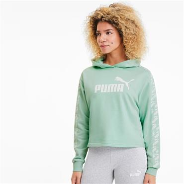 Puma Womens Amplified Cropped Hoody - MINT