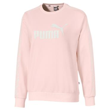 Puma Womens Amplified Crew Sweat Shirt - Pink