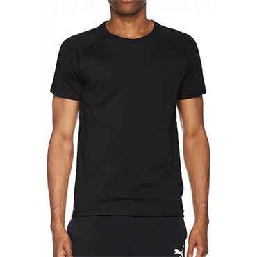 PUMA MENS EVO STRIPE T SHIRT - ONE